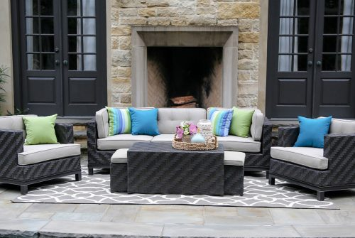 Create an outdoor sectional sofa set to meet your entertaining needs.